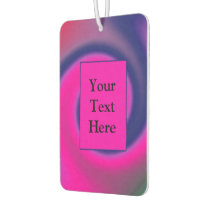 Groovy Pink Blue Swirl Abstract Air Freshener