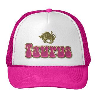 Groovy Pink Lady Zodiac Sign Taurus Hat
