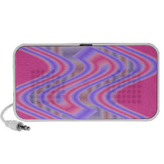 groovy pink purple abstract portable speakers