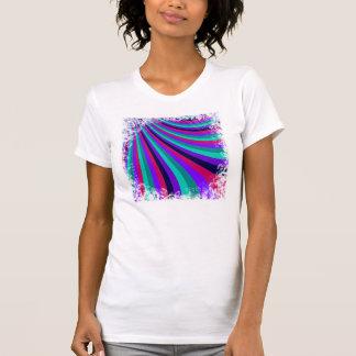 Groovy Pink Purple Aqua Rainbow Slide Stripes T-shirt