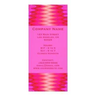 groovy pink rack cards