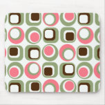 Groovy Pink Retro Geometric Mousepad Mouse Pads