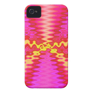 groovy pink yellow iPhone 4 Case-Mate case