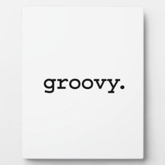 groovy. plaque
