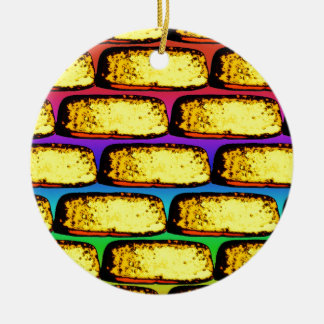 Groovy Pop Art Cakes Ceramic Ornament