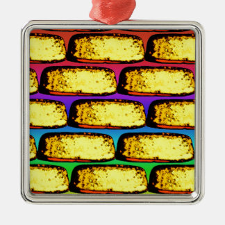 Groovy Pop Art Cakes Metal Ornament