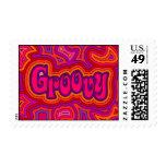 Groovy Postage Stamp