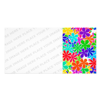 Groovy Psychedelic Flowers Card