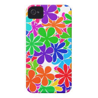 Groovy Psychedelic Flowers iPhone 4 Cover