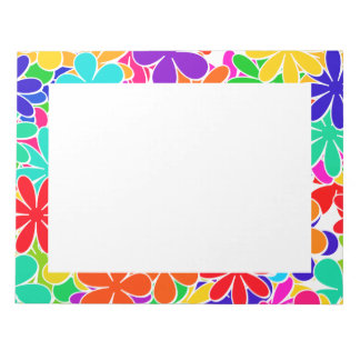 Groovy Psychedelic Flowers Notepad