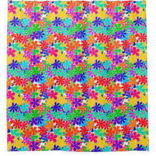 Groovy Psychedelic Flowers Shower Curtain