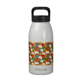 Groovy Psychedelic Flowers Reusable Water Bottles