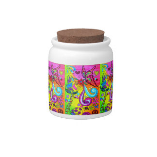 groovy psychedelic magic mushroom cookie jar candy dish