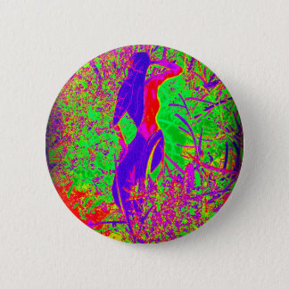 groovy psychedelic purple hippie mermaid pinback button