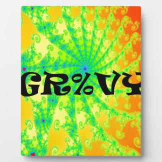 Groovy Psychedelic Swirl Design Plaque