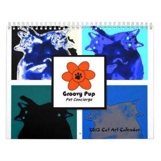Groovy Pup 2013 Cat Art Calendar
