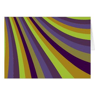 Groovy Purple and Green Rainbow Slide Stripes Patt Cards
