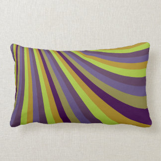 Groovy Purple and Green Rainbow Slide Stripes Patt Pillows