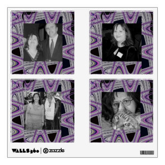 groovy purple black abstract photoframe wall decal