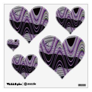 groovy purple black abstract wall sticker