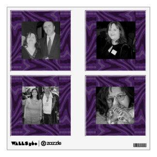 groovy purple black twirl abstract photoframe wall decal