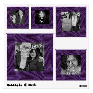 groovy purple black twirl abstract photoframe wall sticker
