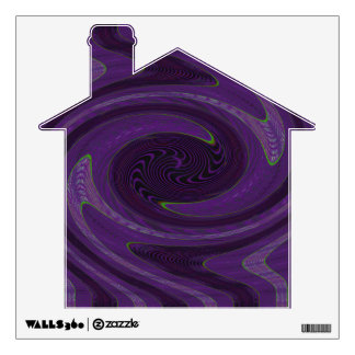 groovy purple black twirl abstract wall decal
