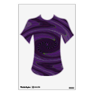 groovy purple black twirl abstract wall sticker