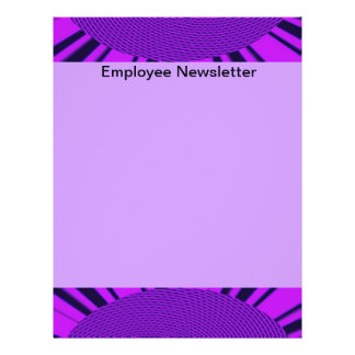 Groovy Purple Circle Abstract Flyer