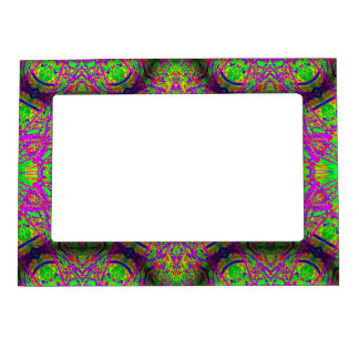 groovy purple green magnetic photo frame