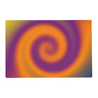 Groovy Purple Orange Placemat