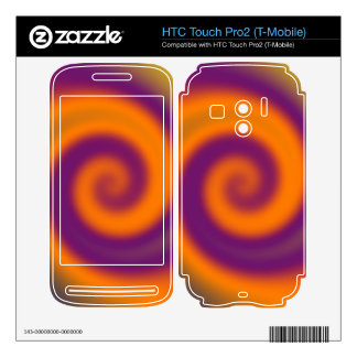 groovy purple orange swirl abstract HTC touch pro2 skins