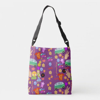 Groovy Purple Sixties Crossbody Bag