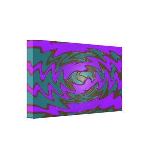 Groovy purple teal abstract canvas print