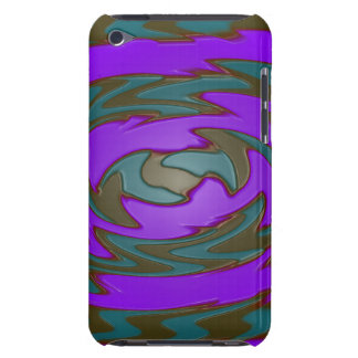 groovy purple teal iPod touch cover
