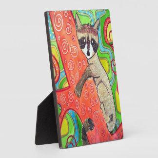 Groovy Raccoon Original Artwork Plaque