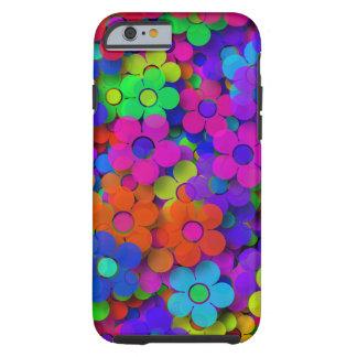 Groovy Rainbow Flowers Tough iPhone 6 Case