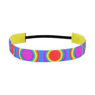 Groovy Rainbow of Concentric Circles Athletic Headband