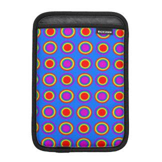 Groovy Rainbow of Concentric Circles iPad Mini Sleeves