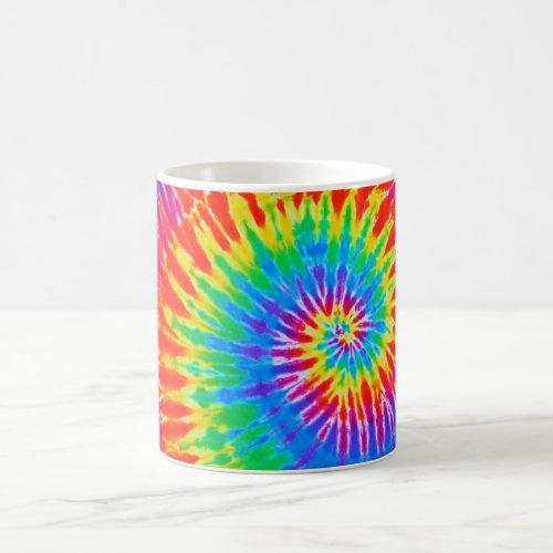 Groovy Rainbow Spiral Tie-Dye Mug