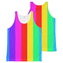 Groovy Rainbow Stripes All-Over-Print Tank Top