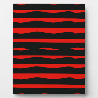 Groovy Red and Black Stripes Plaque