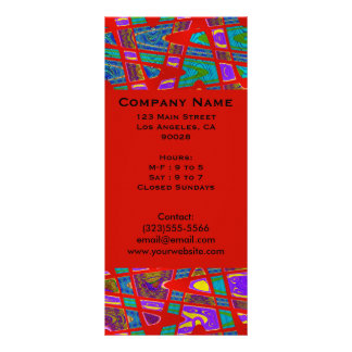groovy red full color rack card