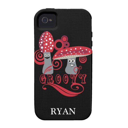 Groovy Red Mushrooms Personalized Phone Cover