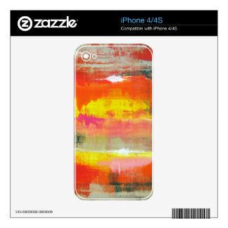 Groovy Red Orange Yellow Abstract No. 155 Decal For The iPhone 4S