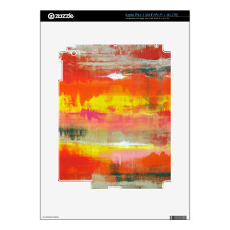 Groovy Red Orange Yellow Abstract No. 155 iPad 3 Decal
