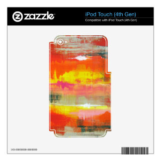 Groovy Red Orange Yellow Abstract No. 155 iPod Touch 4G Decals
