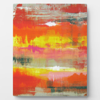 Groovy Red Orange Yellow Abstract No. 155 Plaque