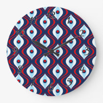 Groovy Red White & Blue Retro Pattern