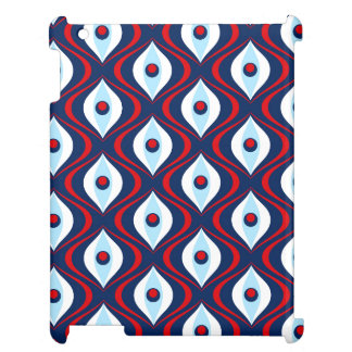 Groovy Red White & Blue Retro Pattern iPad Covers